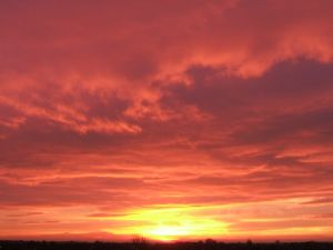 Ein feuriges Morgenrot